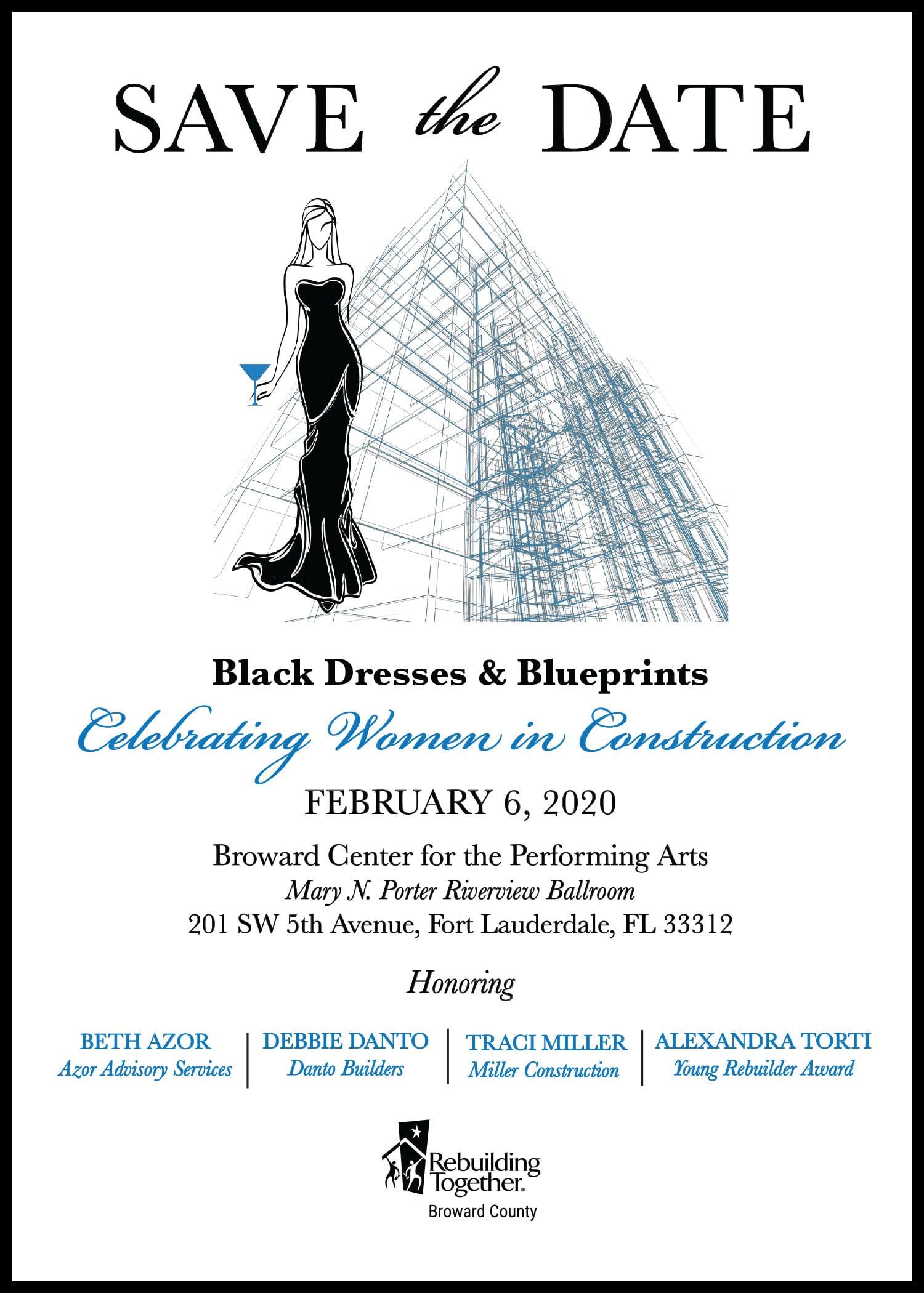 Black Dresses and Blueprints